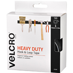 VELCRO 50MMX25M HEAVY DUTY HOOK  LOOK TAPE BLACK