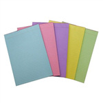 A4 RULED BOND PAD 70 LEAF  ASSORTED COLOURS QUILL PACK 5