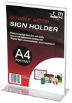 DEFLECTO A4 SIGN HOLDER STAND UP PORTRAIT