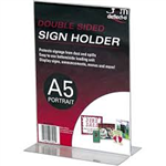 DEFLECTO SIGN AND DOCUMENT HOLDER PORTRAIT DOUBLE SIDED A5