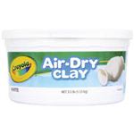 113KG AIR DRY CLAY  WHITE IN REUSABLE STORAGE TUB