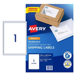 LABEL AVERY INKJET J8167R SHIPPING 1UP 936020 PK25