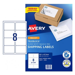 LABEL AVERY INKJET J8165R PARCEL 8UP 936024 PK25