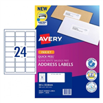 LABEL AVERY INKJET J8159 ADDRESS 24UP PK25