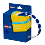 14MM BLUE DOT BOX 1050 AVERY DISPENSER LABEL