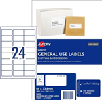 LABEL AVERY COPIERLASER L7159GU 64X338 24UP BX100