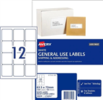 LABEL AVERY COPIERLASER L7164GU 635X72MM 12UP PK100