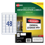 LABEL AVERY LASER L4778 HDUTY 48UP 457X212MM 25S