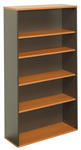900MMW X 315MMD X 1800MMH BOOKCASE WITH 4 ADJUSTABLE SHELVES CHERRYIRONSTONE