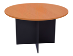 1200MMDIA X 730MMH CHERRYIRONSTONE ROUND MEETING TABLE