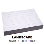 REAM A4 18MM DOTTED THIRDS LANDSCAPE 500 SHEETS