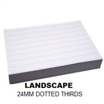 REAM A4 24MM DOTTED THIRDS LANDSCAPE 500 SHEETS