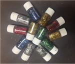 3G ASSORTED GLITTER VIALS PK 12