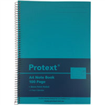 AQUA PROTEXT A4 100PG PP NOTE BOOK 294 X 208MM