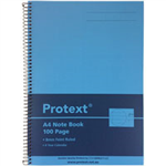 BLUE PROTEXT A4 100PG PP NOTE BOOK 294 X 208MM