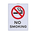 200 X 300MM NO SMOKING SIGN WITH GRAPHIC PLASTIC