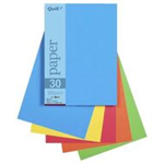 A5 BRIGHT ASSORTED 80GSM QUILL PAPER PACK 250