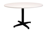 900MMDIA X 730MMH WHITE ROUND MEETING TABLE WITH 4 STAR BLACK BASE