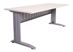 1500MMW X 700MMD X 730MMH WHITE TOP RECTANGULAR DESK SILVER RAPIDSPAN FRAME