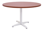 1200MMDIA X 730MMH CHERRY ROUND MEETING TABLE WITH 4 STAR SILVER BASE