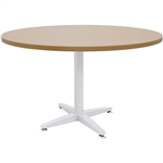 1200MMDIA X 730MMH BEECH ROUND MEETING TABLE WITH 4 STAR WHITE BASE