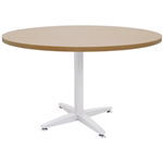900MMDIA X 730MMH BEECH ROUND MEETING TABLE WITH 4 STAR WHITE BASE