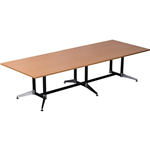 3200MMW X 1200MMD X 750MMH  BEECH TOP BOARDROOM TABLE TYPHOON BASE